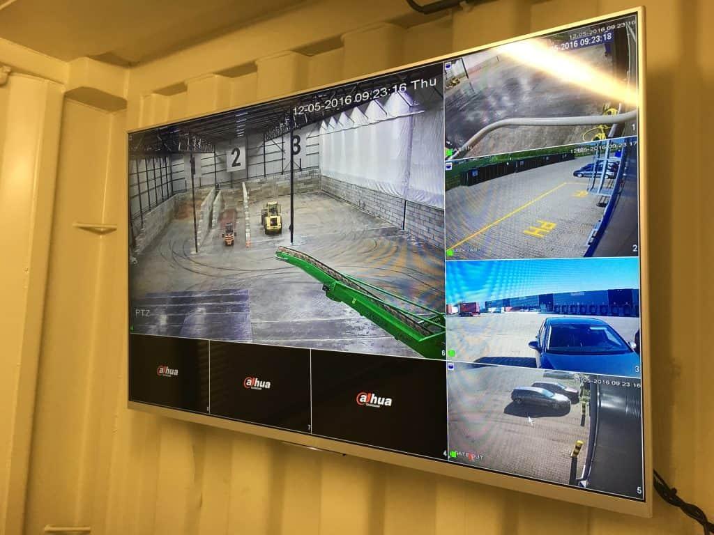 Beveiligingscamera-beelscherm-overzicht