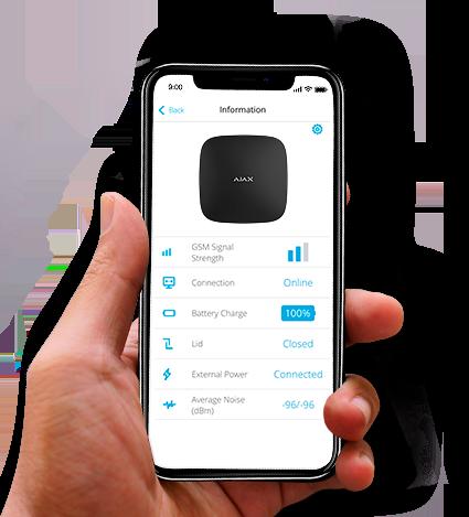 draadloos alarm bediening smartphone